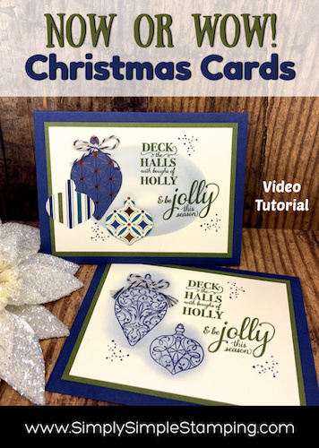 How to Make Christmas Cards Now or Wow Style with Connie Stewart
