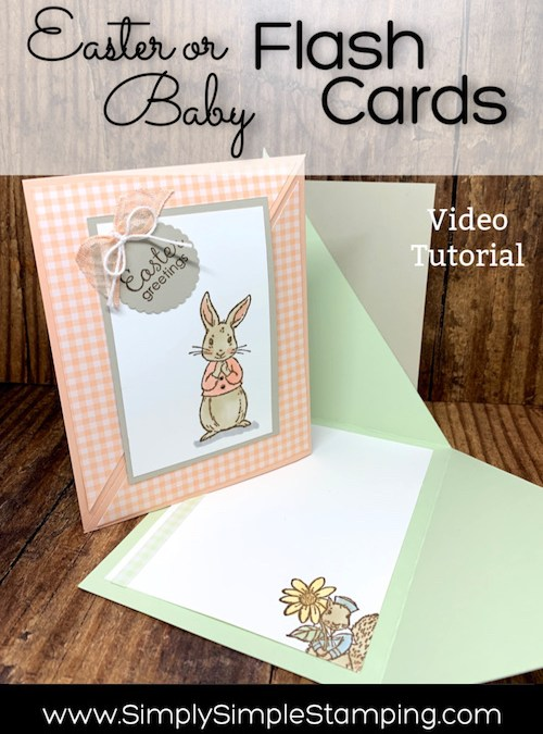 An Easy Fancy Fold Easter Card That Doubles as Baby Card