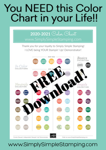 Free Download | 2020-2021 Stampin' Up! Color Chart