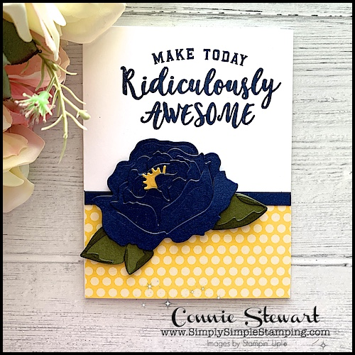 easy-paper-flowers-in-navy-with-yellow-pop-of-color-in-center