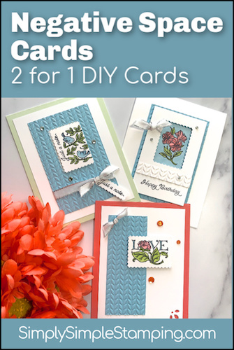 Posted for You! How to Make Easy Negative & Positive Space Cards
