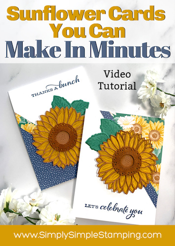 2 Amazing Sunflower Cards that You Can Make in Minutes