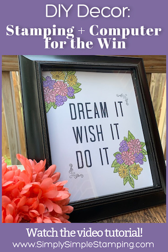 How to Make Easy DIY Room Decor with Stamping and a Computer