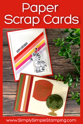 2 Clever Card Ideas with Strips of Cardstock Scraps