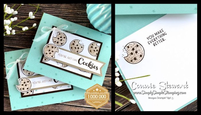 The Stampin' Up! Nothing's Better Than stamp set was used for this easy card layout featuring the cookie stamp