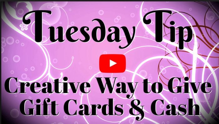 Make creative gift card holders for unique gift giving with this video tutorial