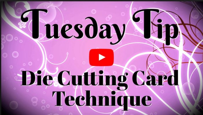 Learn how to die cut a frame on a card by watching the card making video tutorial
