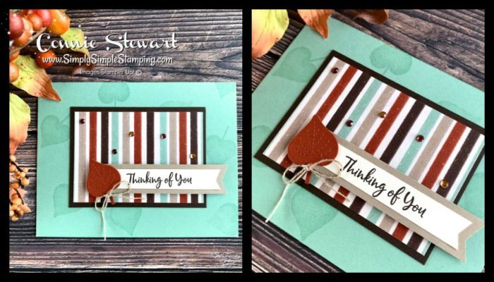 How about using your designer series or scrapbook paper in your easy card layouts?
