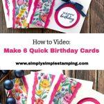 DIY Birthday Card Video Tutorial