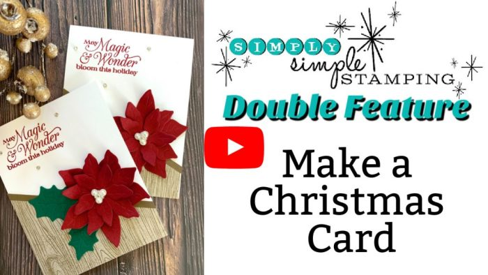 Follow along with Connie Stewart and make a Christmas card handmade