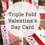 Triple Fold Valentine's Day Card