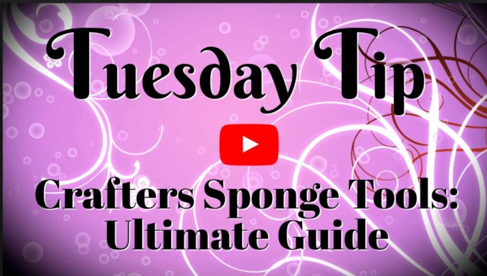 This video will teach you all the crafters sponge tools and techniques in the ultimate guide