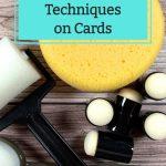 Sponge Technique on Cards