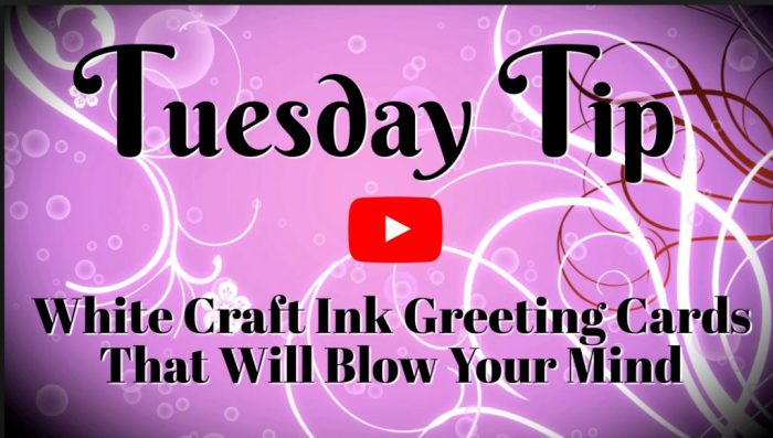 White craft ink can be used in some fun ways; watch the video tutorials to learn more.