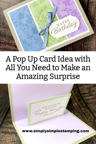 A pop up card idea to save to pinterest.