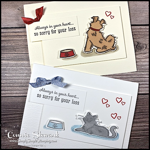 Here are 2 pet sympathy cards for dog parents and cat parents.