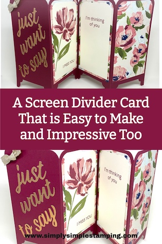 A Screen Divider Card That is Easy to Make and Impressive Too