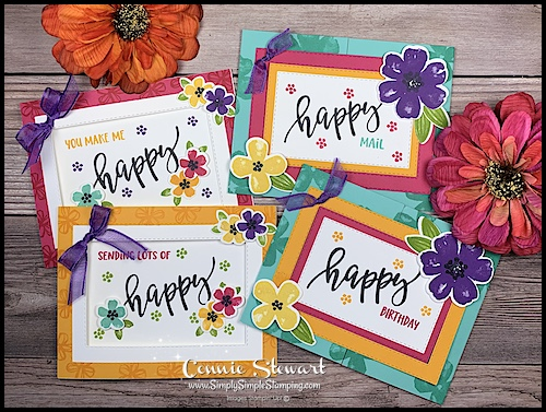 Pretty Perennials Greeting Cards are made with bright and cheerful colors.
