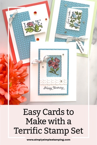 Need Easy Cards to Make with a Terrific Stamp Set?