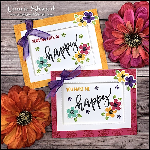 These cards were made with the Pretty Perennials stamp set.