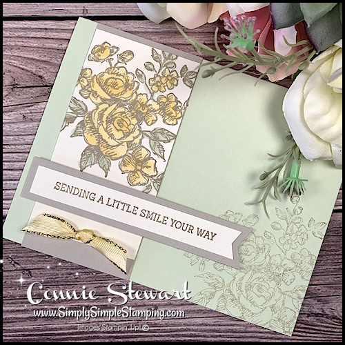 I used Stampin' Blends on this Thinking of You card complete with a bow