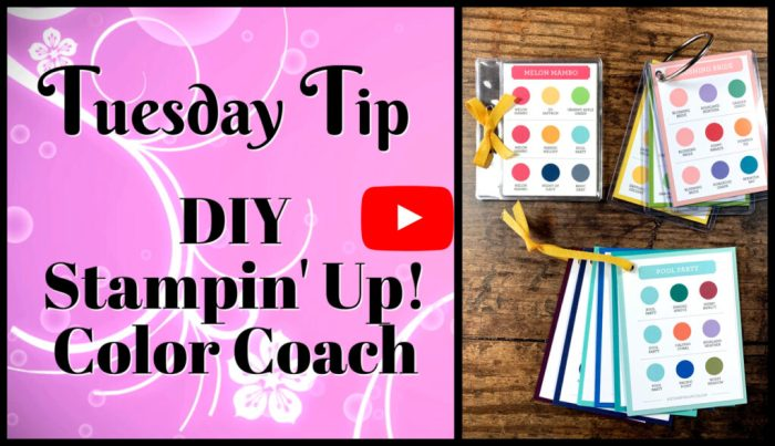 DIY Stampin' Up! Color Coach video tutorial