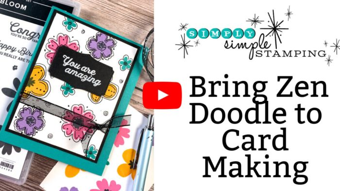 This video tutorial teaches you how to zen doodle on cards for a completely different and easy look