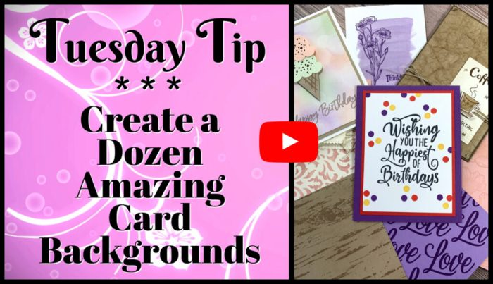 This video will teach you how to make amazing greeting card backgrounds with simple card making supplies