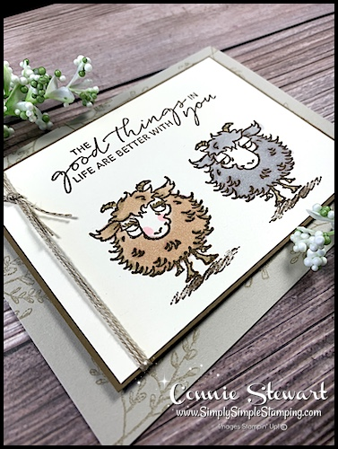Stamp the mirror images and then color them in with Stampin' Blends.