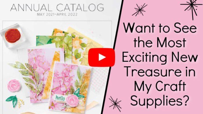 Walk through the virtual catalog full of new craft supplies.