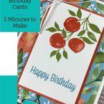 Handmade Birthday Cards - 5 Minutes to Make