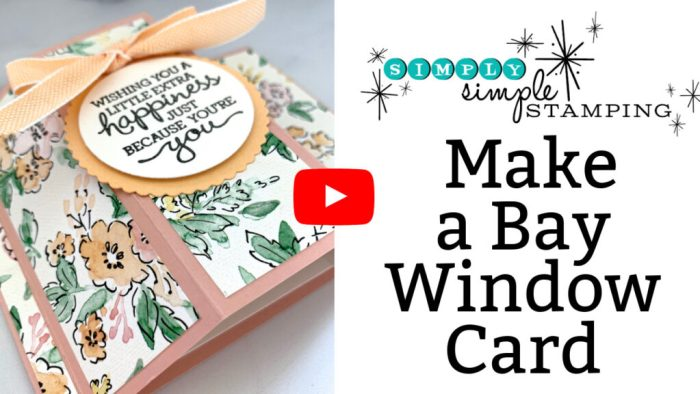 This video tutorial teaches you how to make a bay window card.