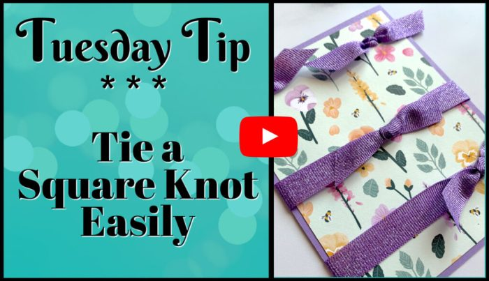Watch the video to learn how to tie a square knot