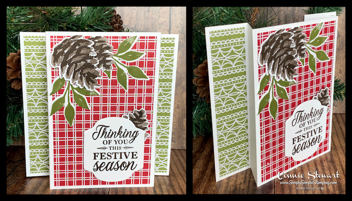 This Christmas Card was made as a pop up card