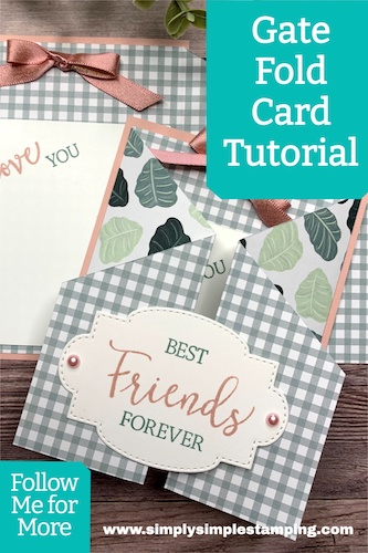 Don't Know How To Make A Gate Fold Card? Watch This Fun Fold Card Tutorial