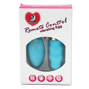 Blue wireless vibrator retail box