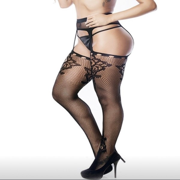 Plus size fishnet tights