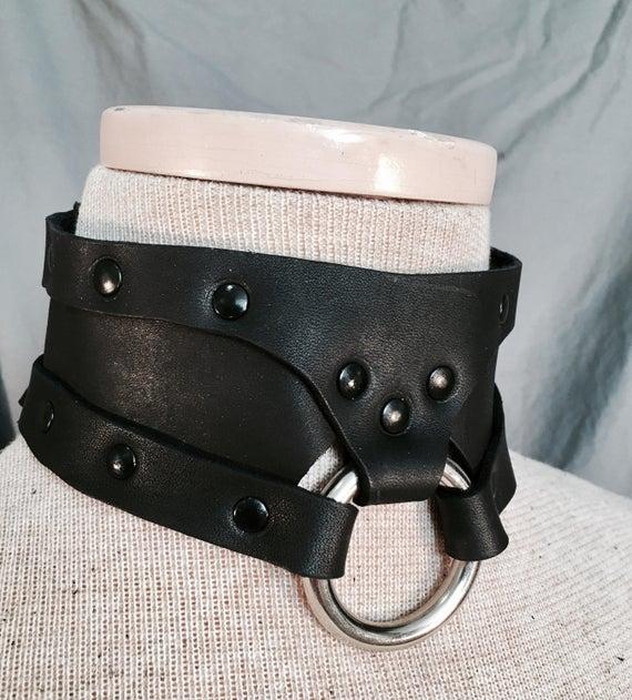 Steampunk Style Leather Boron Collar