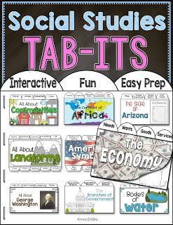 social studies activities, social studies interactive notebooks,