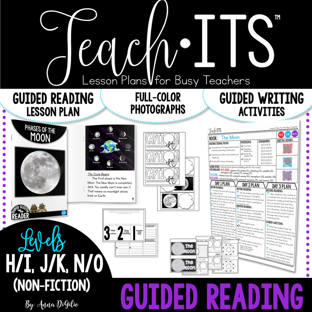 Phases Of The Moon Activity For Guided Reading