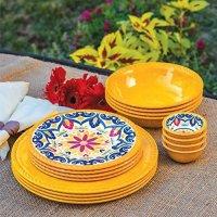 Outdoor Dishes Melamine. Melamine Dinnerware Set - 12 Pcs ...