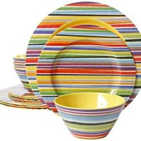 Plastic plates and dishes in several colors and styles