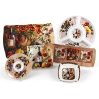 Merritt Tuscan Poppies Melamine Dishware Collection, Type