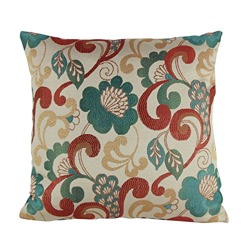 sofa chair covers amazon fishing bed nash puredown jacquard toss pillow case home throw floral pattern square 18x18 inch ...