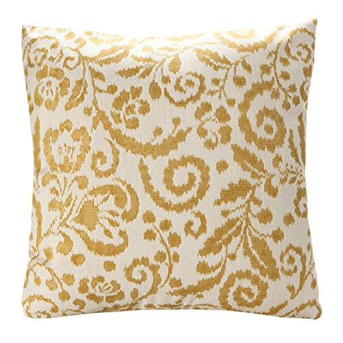 diy outdoor chair cushion covers target stretch simpledecor jacquard floral pattern throw pillow cover sofa 18x18 inch yellow