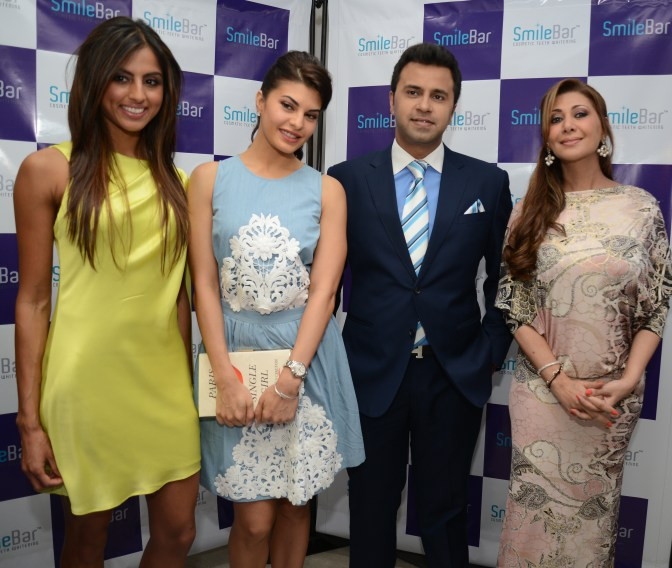 Me, jacqueline Fernandez, Faraz Patel (Our family friend and MD) and Rukshana Eisa's (Grooming Expert)
