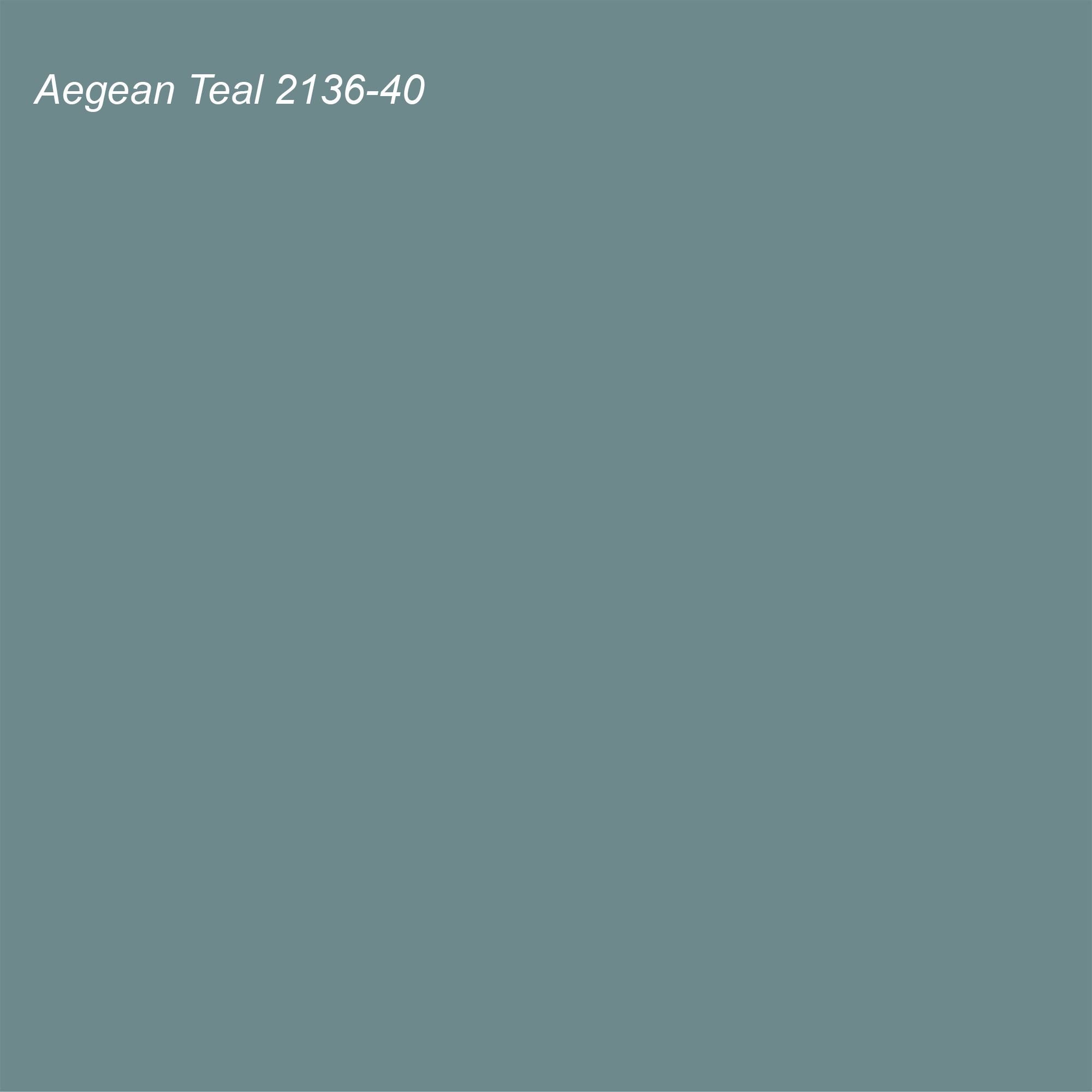 Benjamin Moore 2021 Color of the Year Aegean Teal 2136-40 Swatch