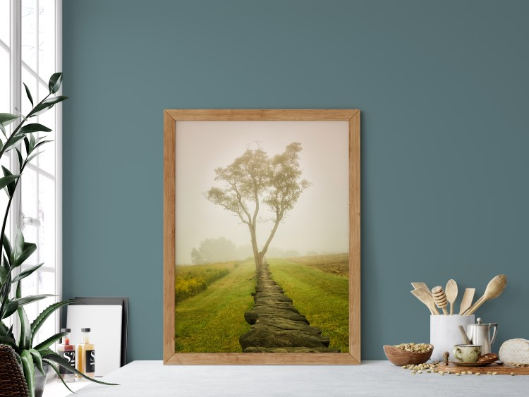 """Benjamin Moore Paint 2021 Color of the Year Aegean Teal and Accent Shades plus featured art by Melissa Fague PI Photography and Fine Art Landscape Photo """"Calming Morning"""""""