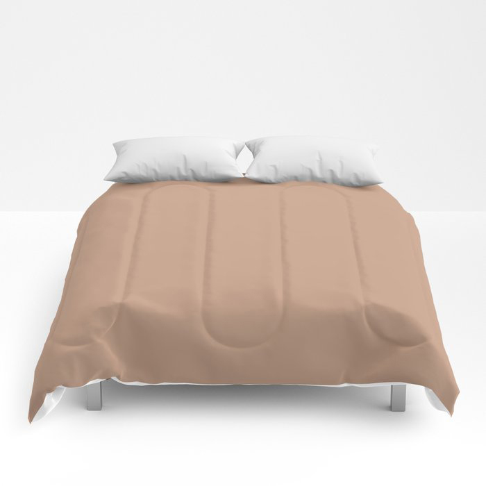Blush Pink Solid Color Pairs To Behr's 2021 Trending Hue Canyon Dusk S210-4 Comforters