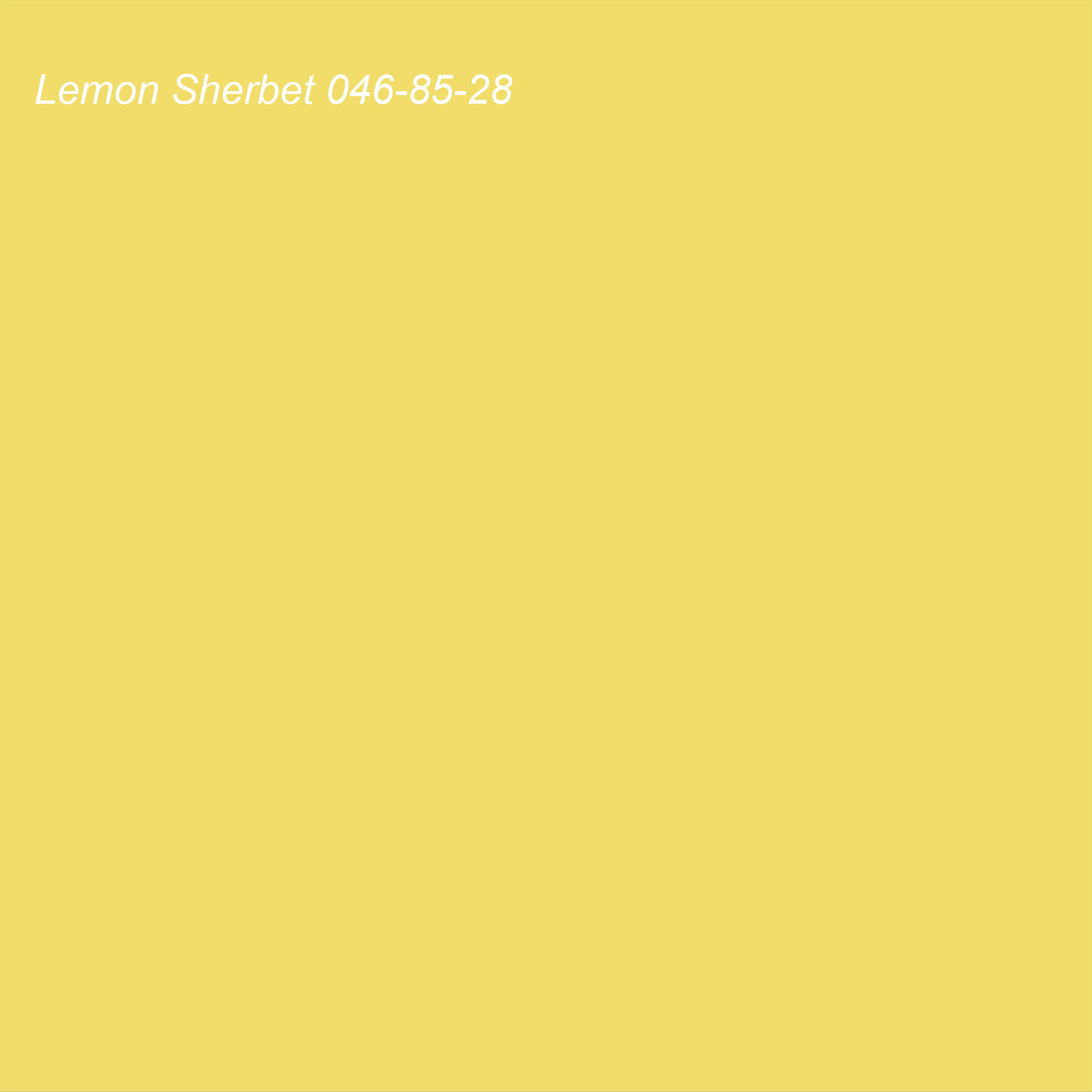 Coloro 2021 Color of the Year Suggested Accent Shade Lemon Sherbet (yellow) 046-85-28